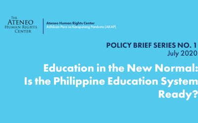 Education in the New Normal: Is the Philippine Education System Ready?
