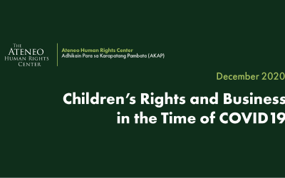 Children's Rights and Business in the Time of COVID-19