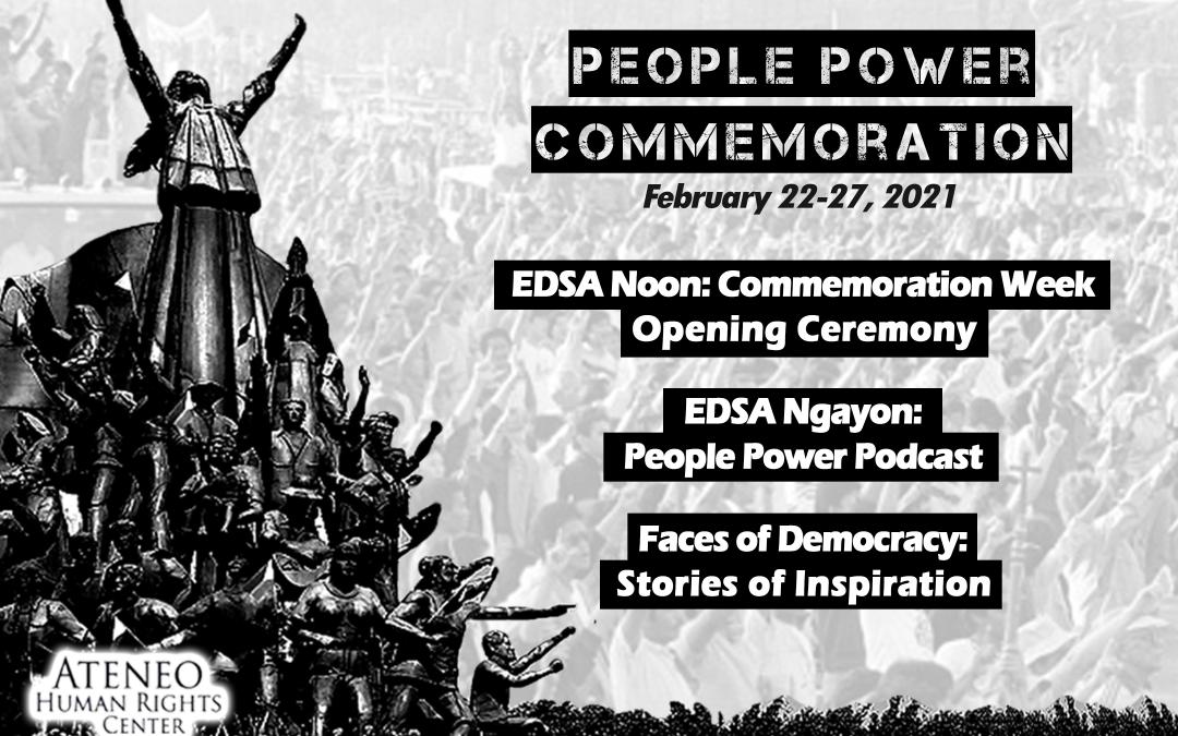 AHRC commemorates 35th Anniversary of the EDSA People Power Revolution